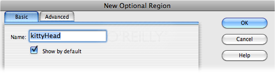 "The Optional Regions feature lets you show or hide specific content on template-based pages. Turning on ""Show by default"" tells Dreamweaver to display the region when a page editor first creates a template-based page. Turn this box on if you want to display the optional region on most pages. You'll save someone the effort of doing so each time she creates a new template-based page."