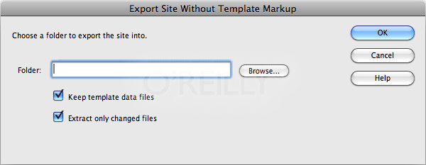Dreamweaver lets you strip out template code from template-based pages with the Export Site Without Template Markup command.