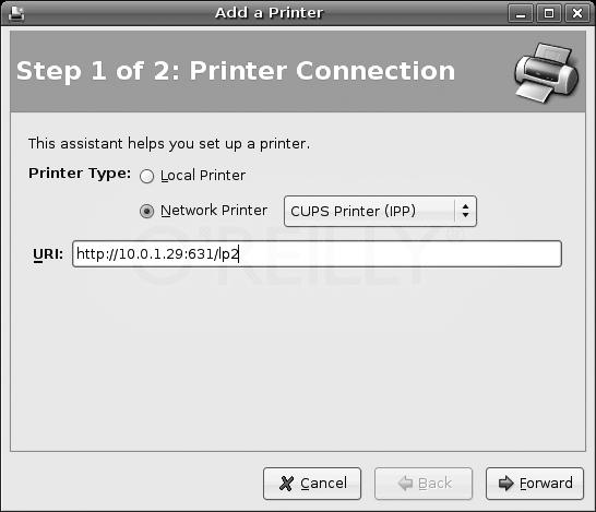 Configuring a network printer