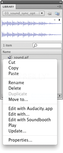 Editing a sound in an external application