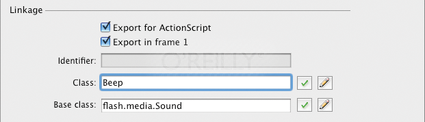 Assigning a sound's Linkage class