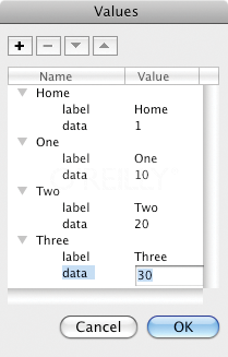 Configuring a ComboBox component using the Component Inspector panel