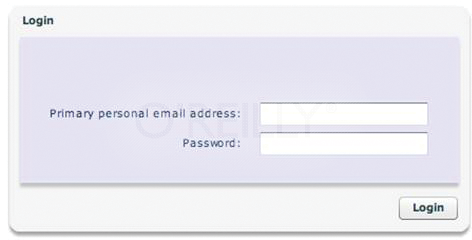 A simple login user interface