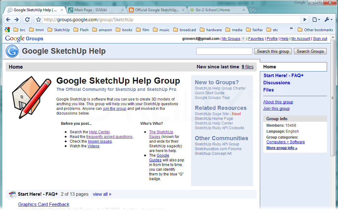 The SketchUp Help Group is the official community for SketchUp and SketchUp Pro. You can join the group for free, and participate in the online discussions.