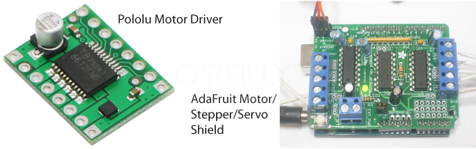 Two different motor driver shields