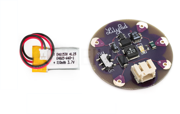 Lithium Ion battery and the LiPower board